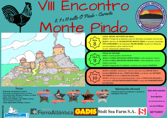 Cartel do VIII Encontro Monte Pindo