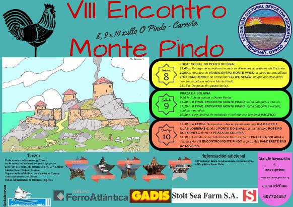 Cartel do VIII Encontro Monte Pindo
